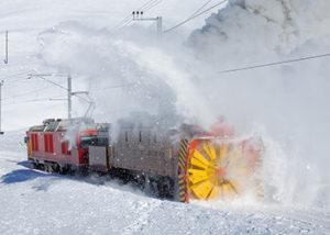 Снегоборьба на железной дороге