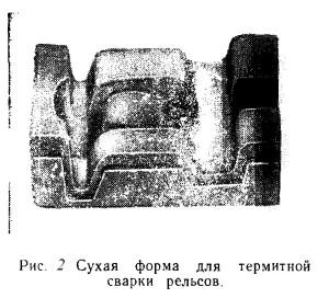 Форма для термитной сварки